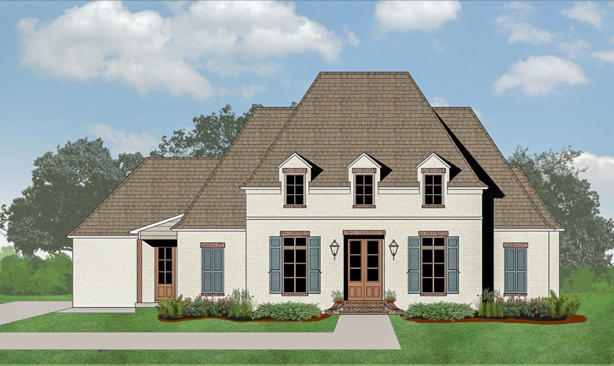 Plan 56427sm Charming French Country House Plan With Open Concept Living Space French Country House Plans French Country Fireplace French Country House