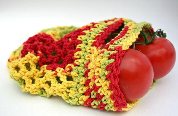 Farmers Market Bag   Mini Reusable Cotton Produce by KnotaGeek, $10.00