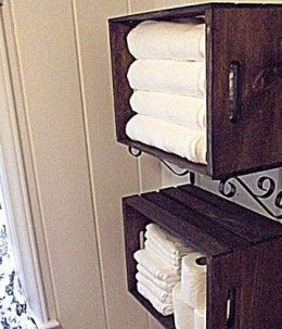 Wooden Crate Linen Storage | Easy Organization Ideas for the Home organizing ideas organizing tips #organized