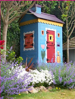 Colorful Playhouse by Barbara Butler