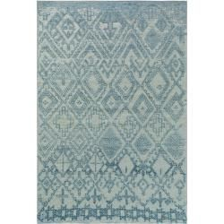Photo of benuta flat woven carpet Tosca blue 230×340 cm – Modern carpet for living room benuta