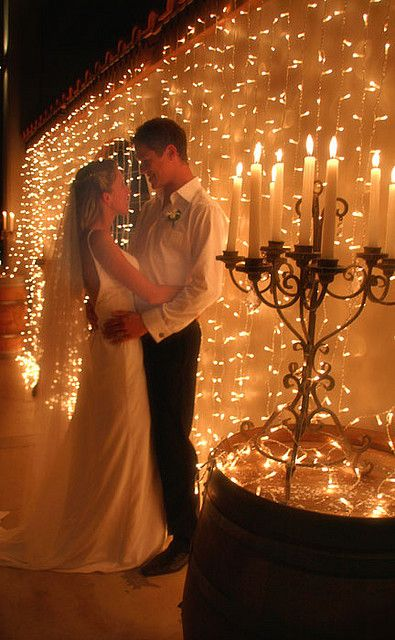 Love the wall of lights! Yay for behind the bridal table & Tu0026M-Candles-u0026-Lights-LR   Wedding reception backdrop Glamour and ... azcodes.com