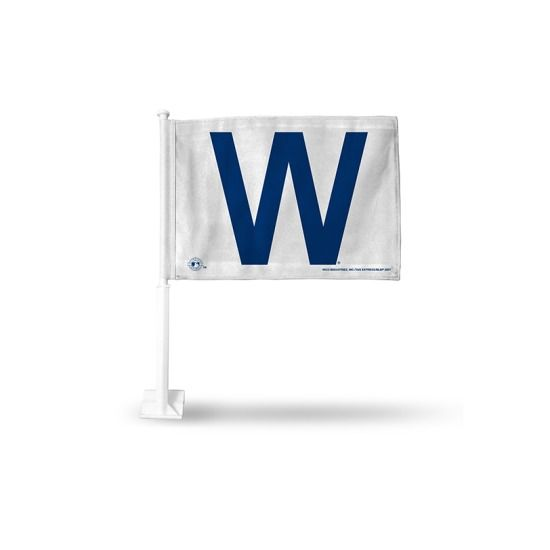 Chicago Cubs 'W' Car Flag By Rico | SportsWorldChicago.com  #ChicagoCubs @cubsbaseball