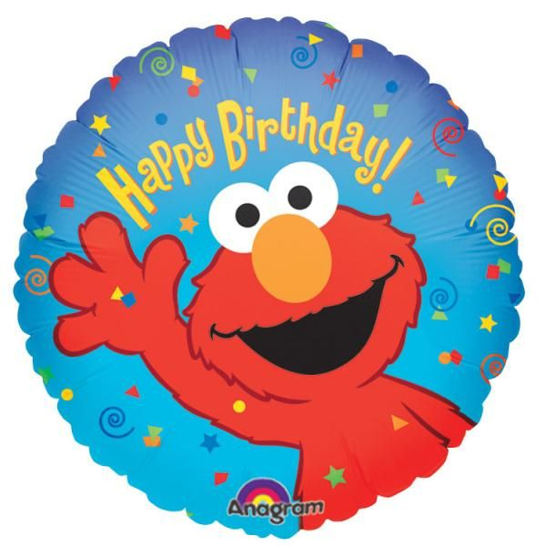 Auctionopia: Happy Birthday Elmo Balloon