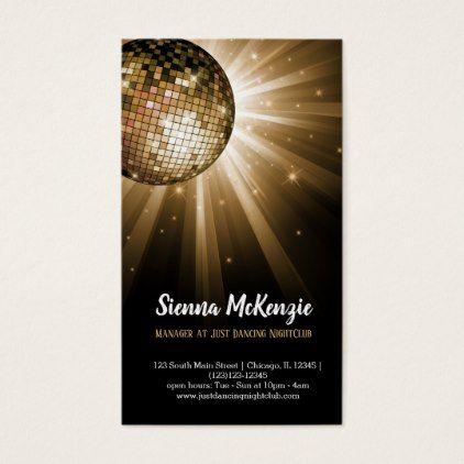 Disco Ball Gold Business Card Zazzle Com Gold Business Card Disco Ball Professional Gifts