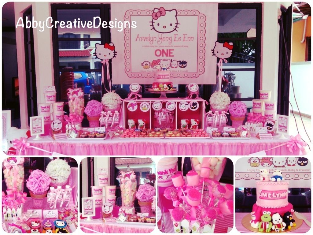 Hello Kitty Theme 1st Birthday Party Twins Pinterest Kitty