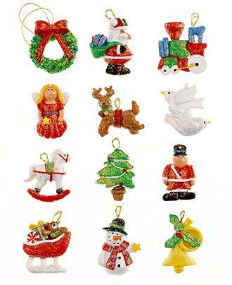 Kurt Adler Set Of 12 Mini Resin Ornaments Holiday Lane For The Home Macy S Mini Christmas Ornaments Mini Ornaments Christmas Ornaments