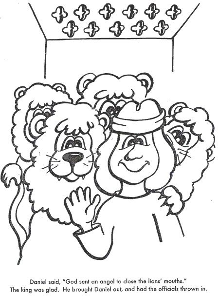 daniel lions den msss bible lesson links to story ideas colouring pages