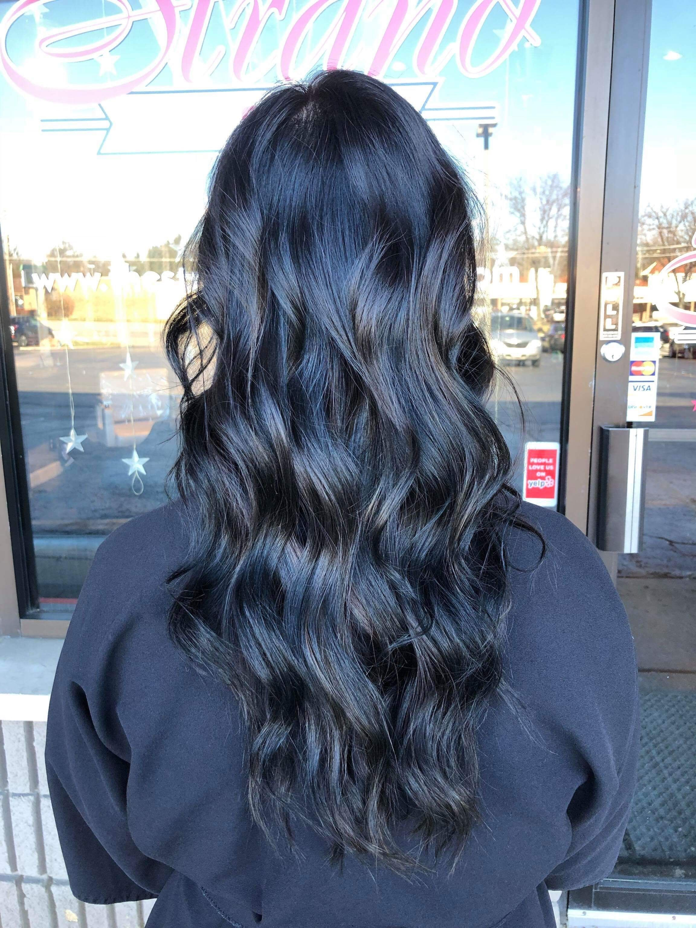 Dark Brow With Black Lowlights Darkhair Lowlights Darkbrown Blackcoloredhair Richhair Blueblackha Dark Brows Hair Color For Black Hair Hair Color Auburn