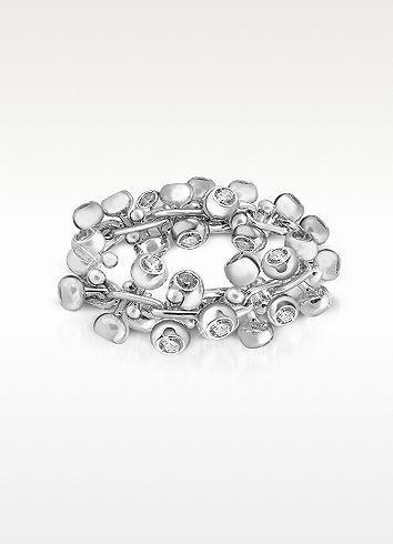 Orlando Orlandini Ring a fascia in white gold  18ct