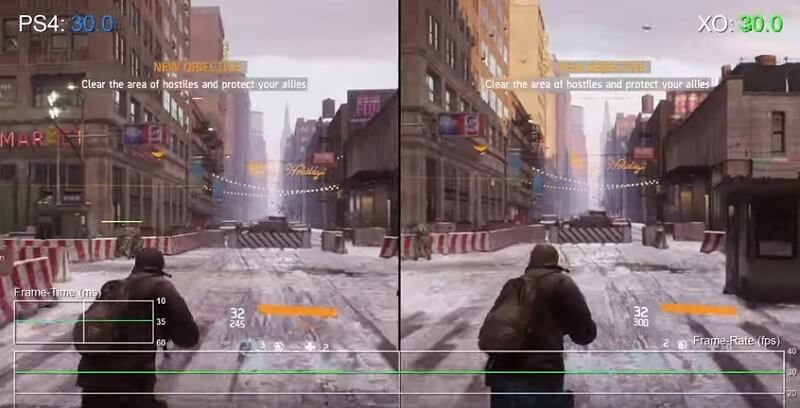 Side By Side Comparison Of How The Division Looks on PS4 & Xbox One #gaming