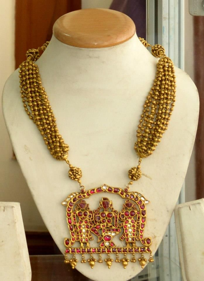 Beautiful Gold Temple Jewellery by Manjula Rao | Temple, Gold and ...
