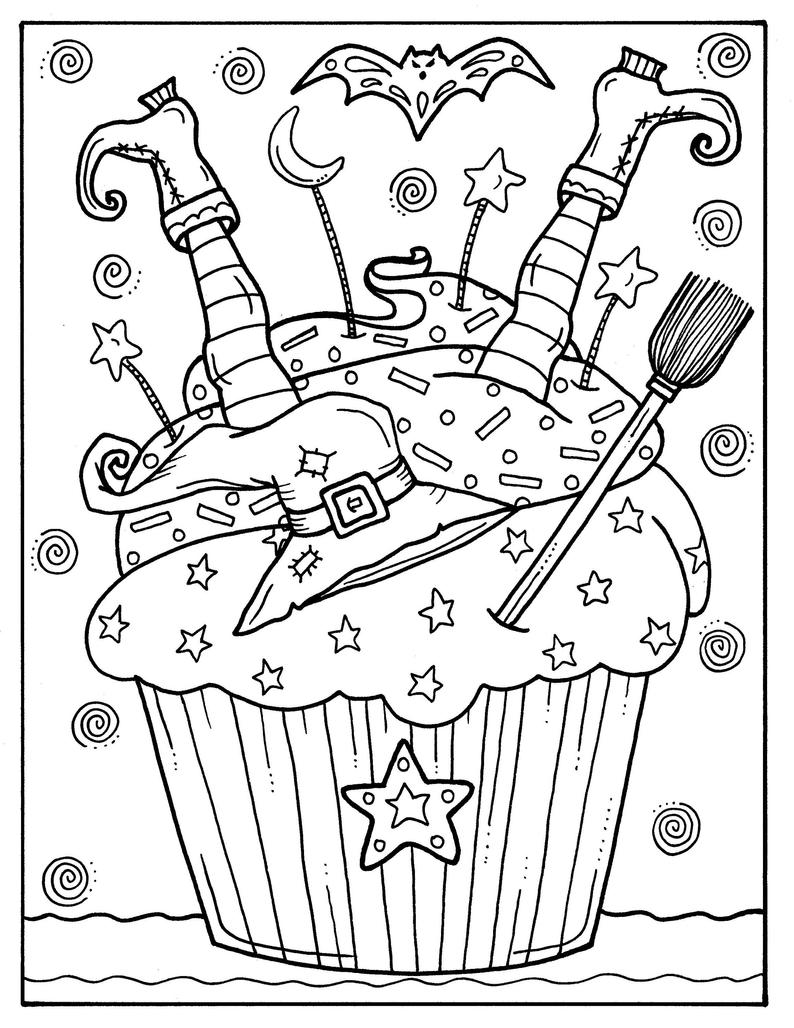 5 pages cupcakes to color instant