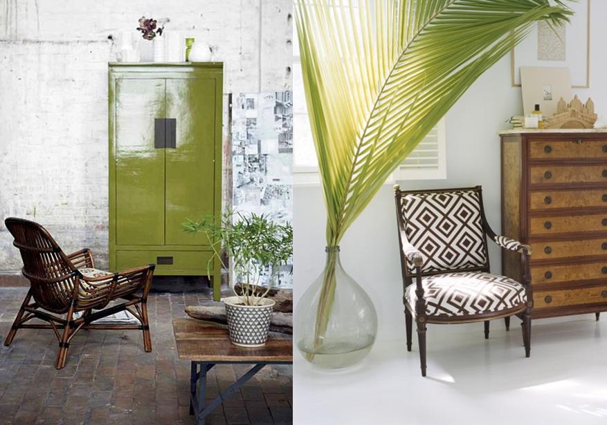 tendance décoration 2014 2015 style néo tropicale exo chic tropicool déco exotique plantes ...
