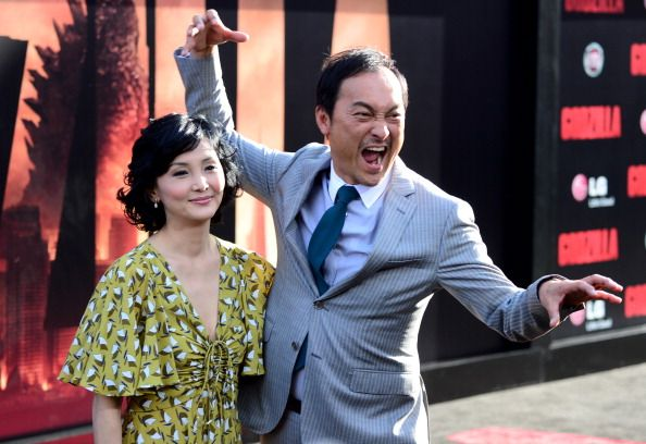 Kaho Minami and Ken Watanabe attend the premiere of Warner Bros. Pictures and Legendary Pictures' 'Godzilla' at Dolby Theatre on May 8, 2014 in Hollywood, California