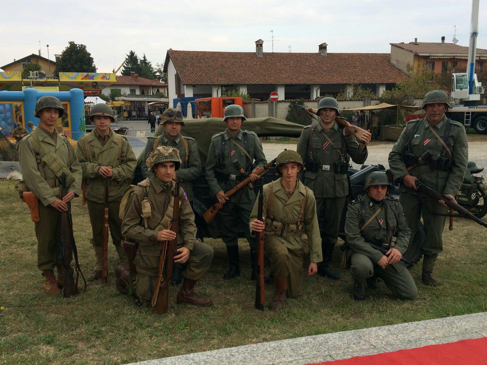 Gruppo Normandie-44  Graffignana 2016 Americani e tedeschi