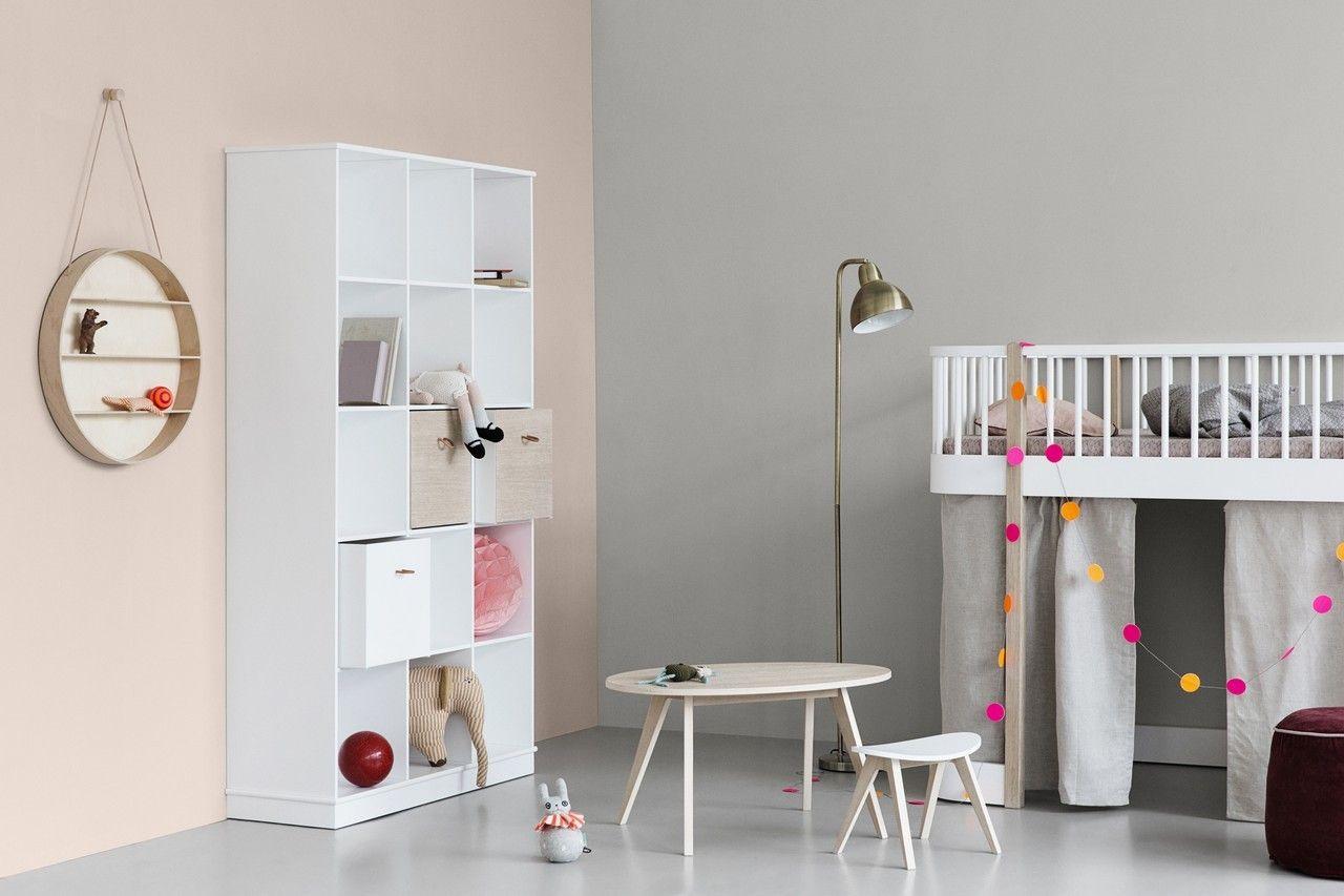 Oliver Furniture Halbhohes Hochbett Wood 90x200 Cm Leiter Vorne Weiss