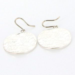 Estate Tiffany & Co Sterling Silver Notes Round Dangle Drop Earrings Designer  $349