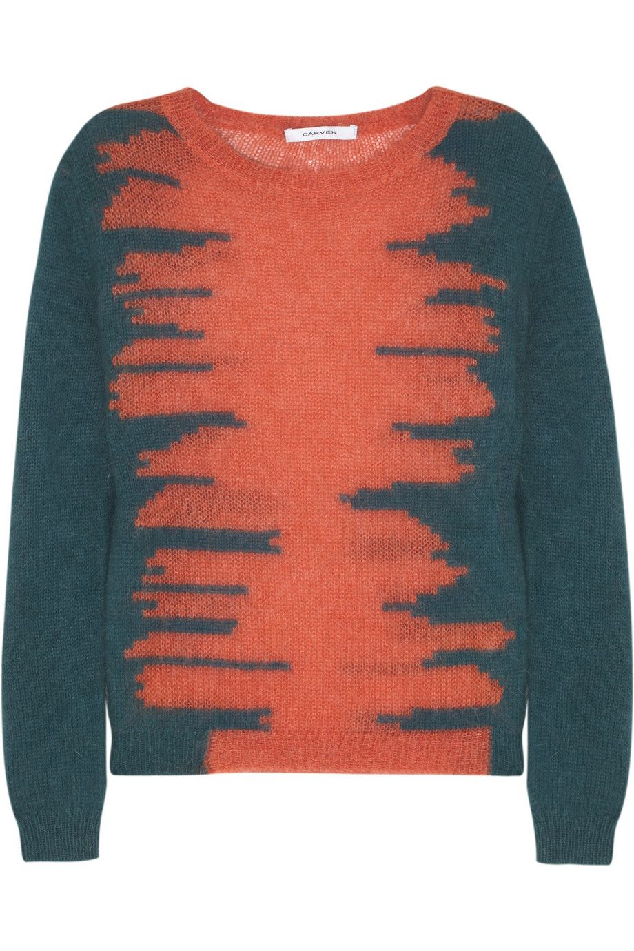 Carven | Tiger-intarsia knitted sweater | NET-A-PORTER.COM