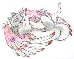 Konn of Pink Wings by CaptainMorwen | Wings, Wolf drawing ...