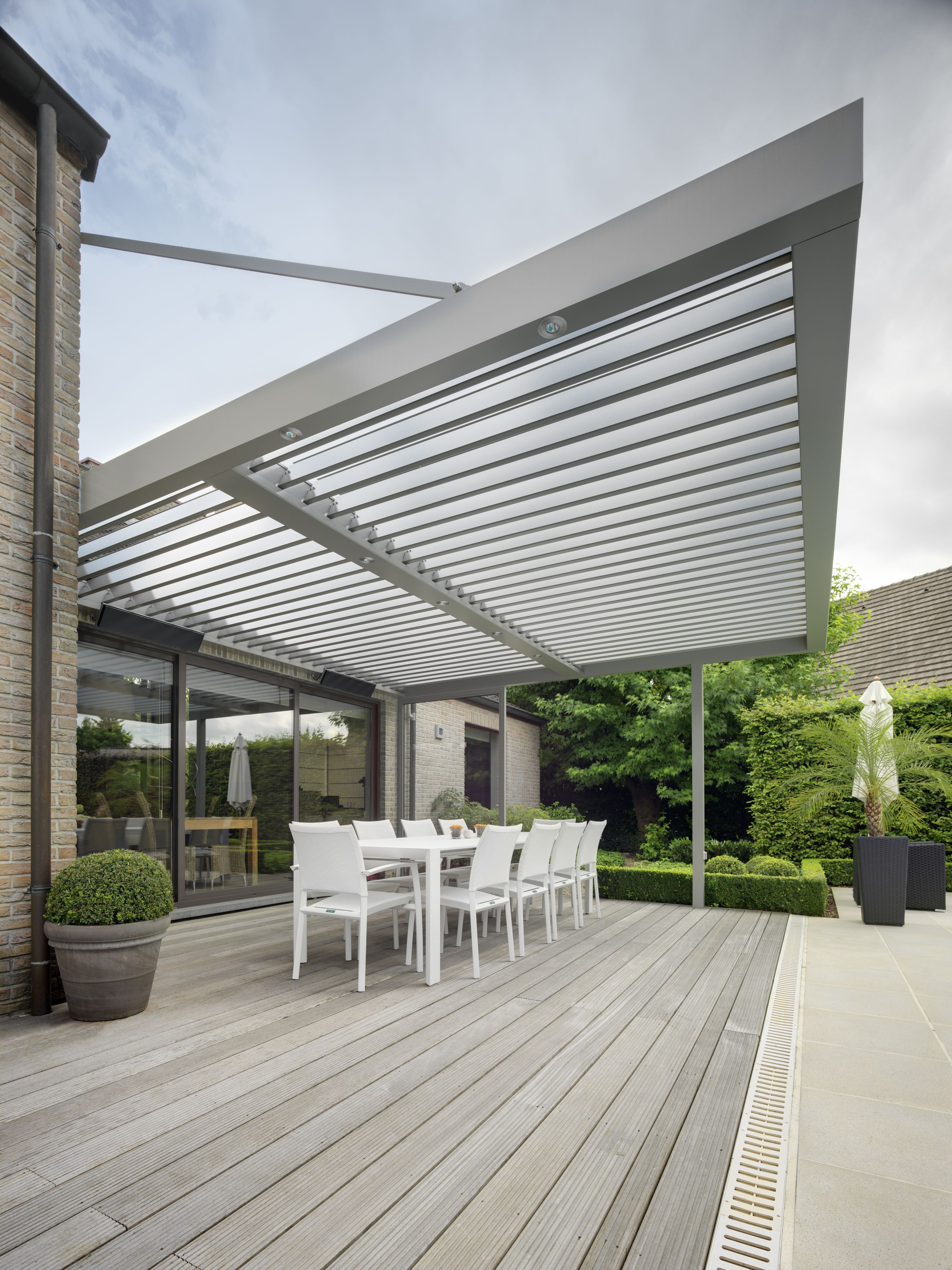 This allweather patio roof system Kingsland Road