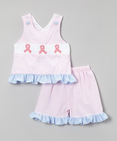 Loving this Pink Breast Cancer Tank & Shorts - Infant, Toddler & Girls on #zulily! #zulilyfinds