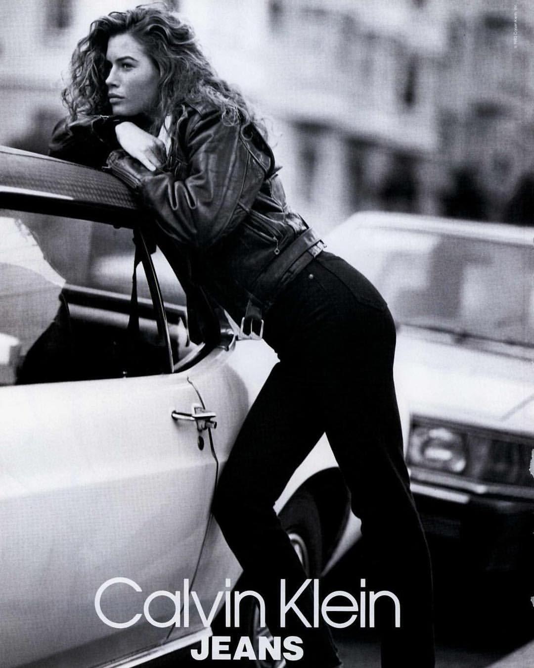 Calvin Klein Jeans 1991: Carré Otis, Marcus Schenkenberg ...  Marcus Schenkenberg Calvin Klein Ad