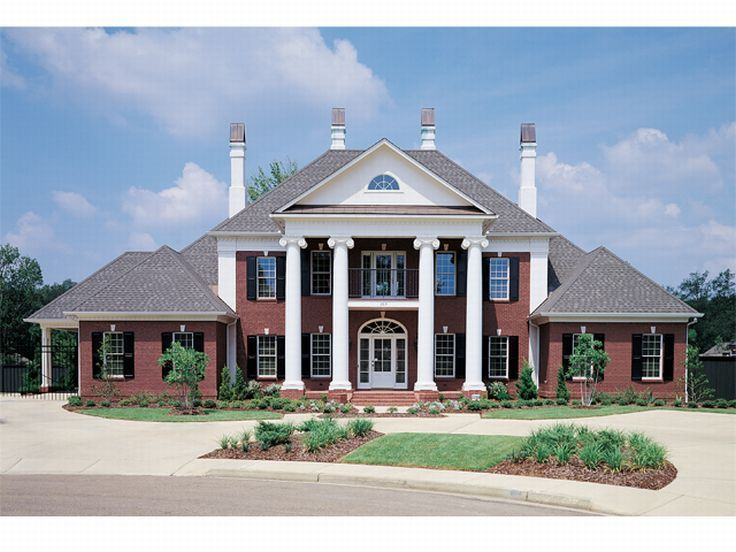 Luxury House Plan, 021H 0197 Perhaps The Most Widely Recognized Feature Of Colonial  House. Southern ...