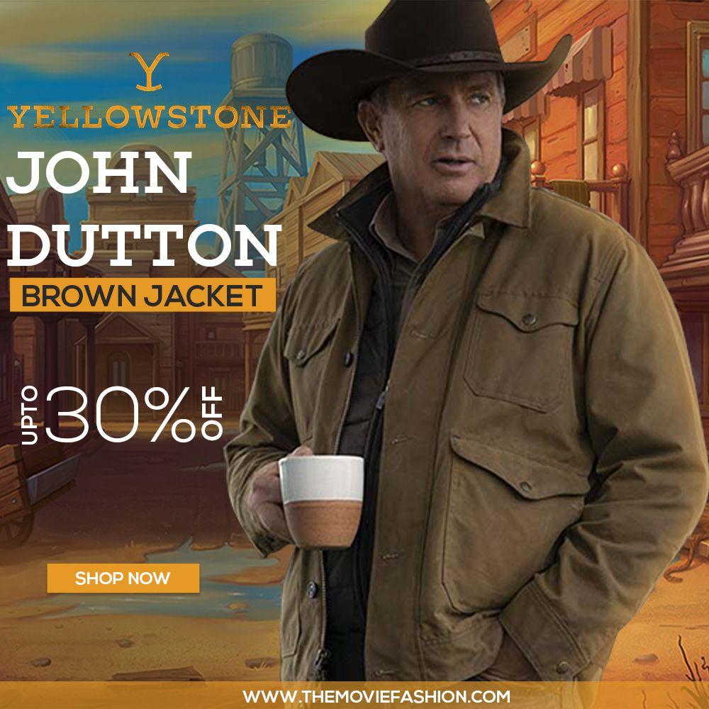 Yellowstone Season 2 John Dutton Brown Jacket The Movie Fashion Brown Jacket Jackets Movie Fashion [ 1000 x 1000 Pixel ]