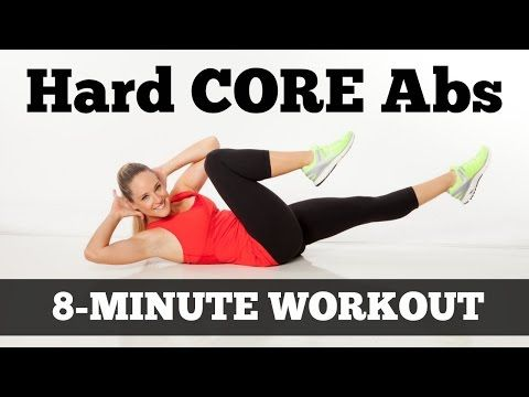 Hard Core Abs - Full Length 8-Minute Abs Workout for All Levels - YouTube
