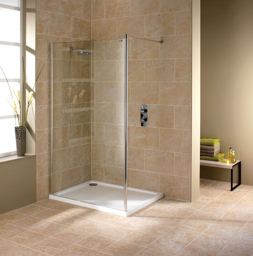Showerlux Urban Chic Flat Wetroom Panel With Wall Support & wet room with tub and shower together | Urban Chic Shower Enclosures ...
