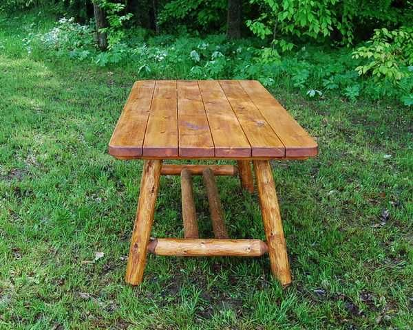 Tremendous 6 Cedar Log Picnic Table W O Benches Cabin Style Download Free Architecture Designs Boapuretrmadebymaigaardcom