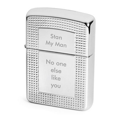 Personalized Zippo Armor Lighter With Deep Cut Border By Things