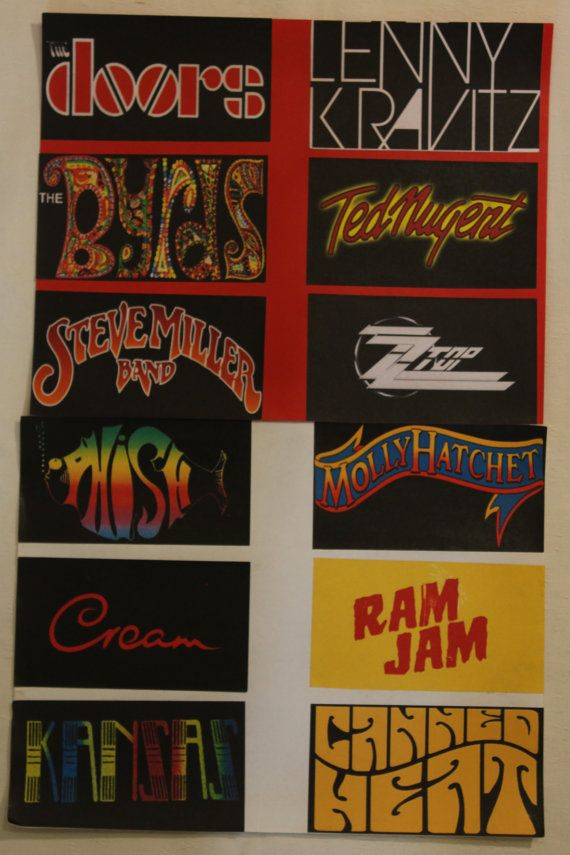 Band sticker from country pop classic country rock music 2 8x5 5
