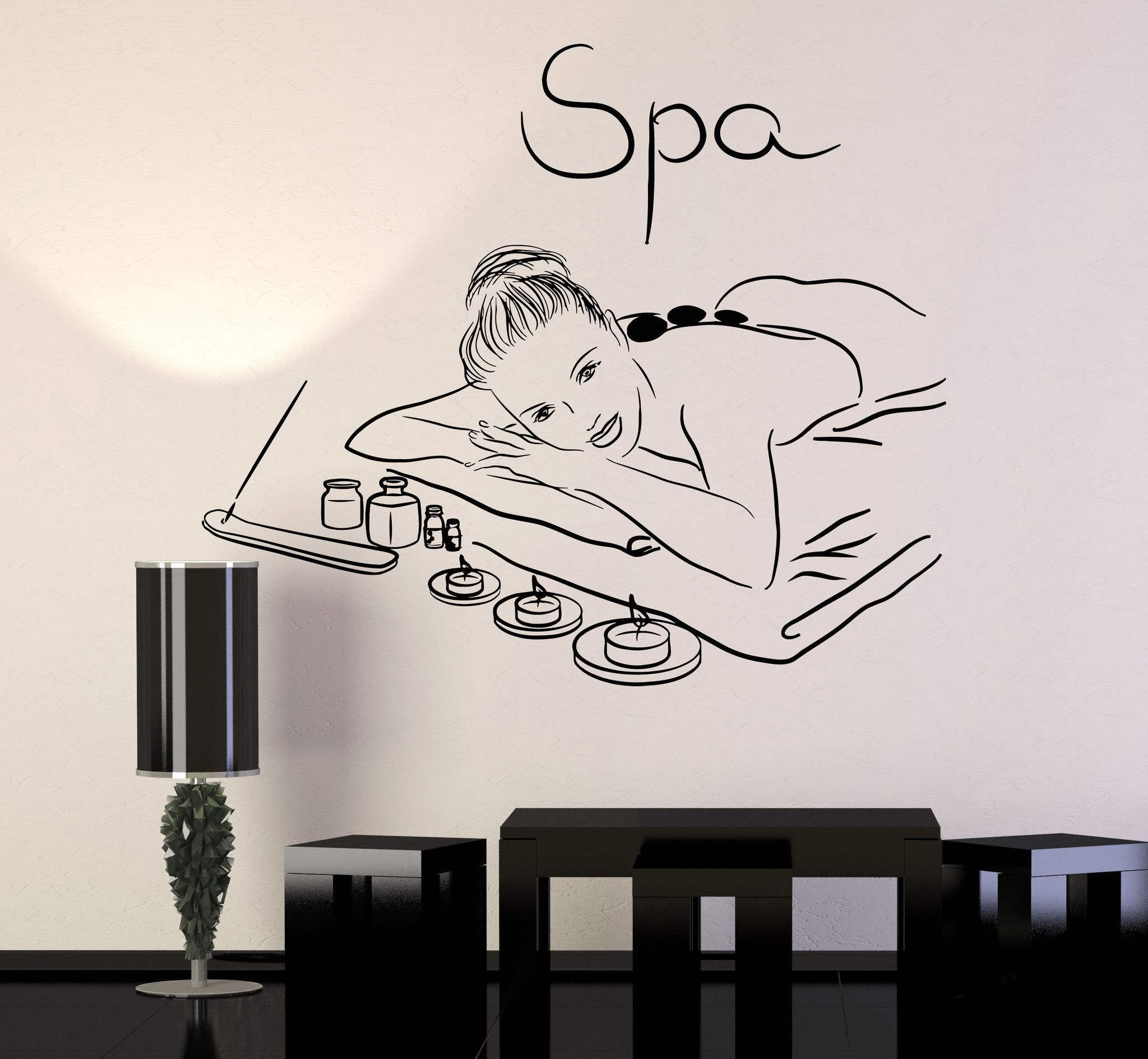 Vinyl Wall Decal Spa Beauty Salon Massage Relax Stickers Mural Unique Gift 213ig Vinyl Wall Decals Vinyl Wall Beauty Salon Decor