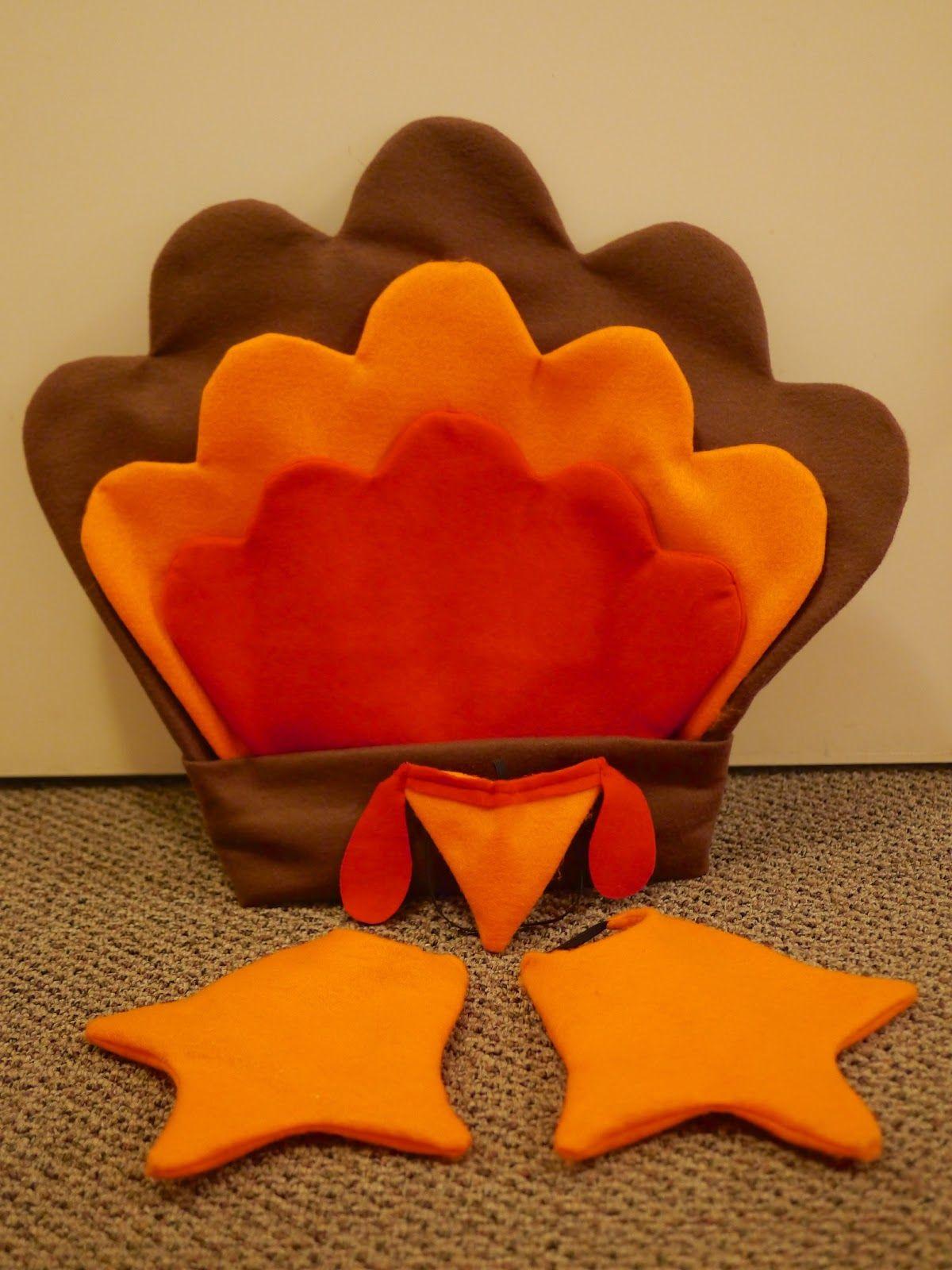 Home made turkey costume - tail, beak and feet | Halloween ...