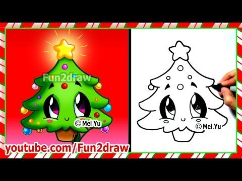 How To Draw Christmas Stuff.Easy Drawings How To Draw Christmas Tree Cute Christmas
