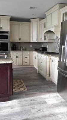 natural timber ash glazed porcelain flooring choice cabinet color for kitchen - Porcelain Floors For Kitchen