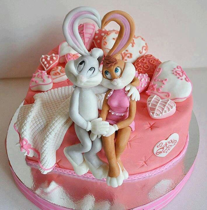 Bugs Bunny And Lola Bunny Valentine S Day Cake Valentine S Day In