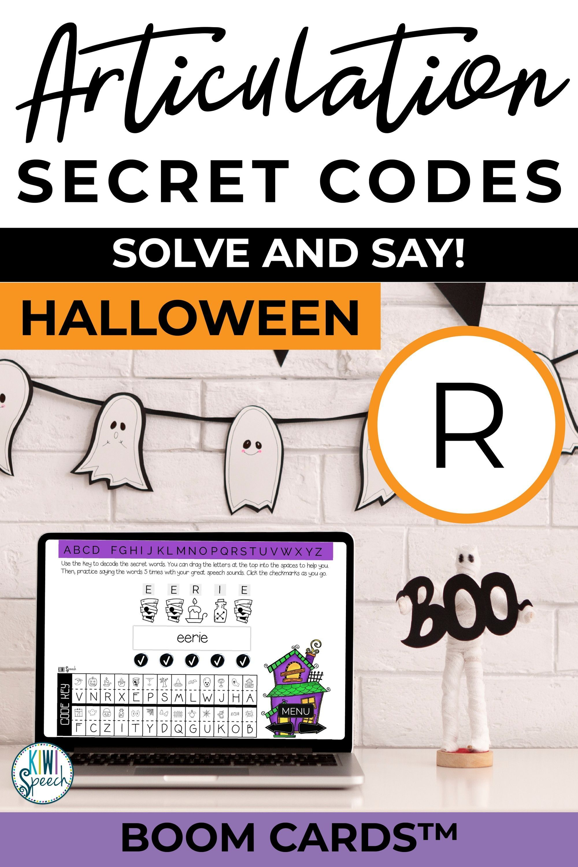 R Articulation Secret Codes Boom Cards