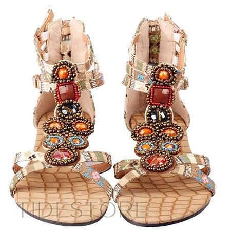 Chinese Style Ornamental Sandals . $23.39. Chinese Style Ornamental Sandals