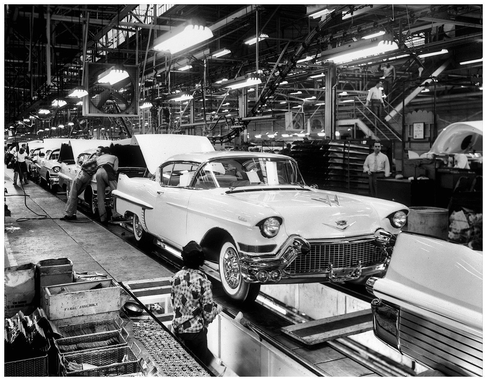 1957 Cadillac Assembly Line 8 x 10 Photograph | eBay ...