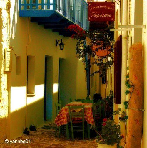 Gatherings by the shades ~ Plaka, Milos  Greece