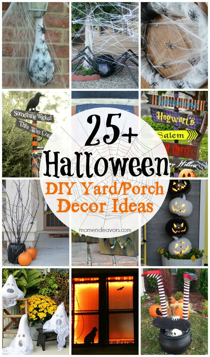 25 diy halloween outdoor decor ideas dollar store. Black Bedroom Furniture Sets. Home Design Ideas