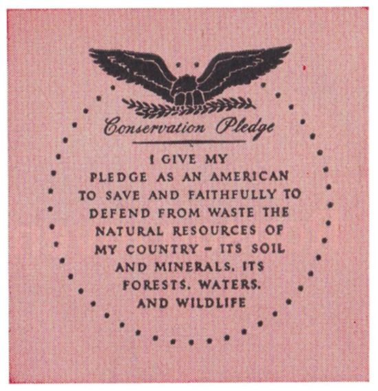 I give my pledge as an american to save and faithfully to for Natural resources soil uses
