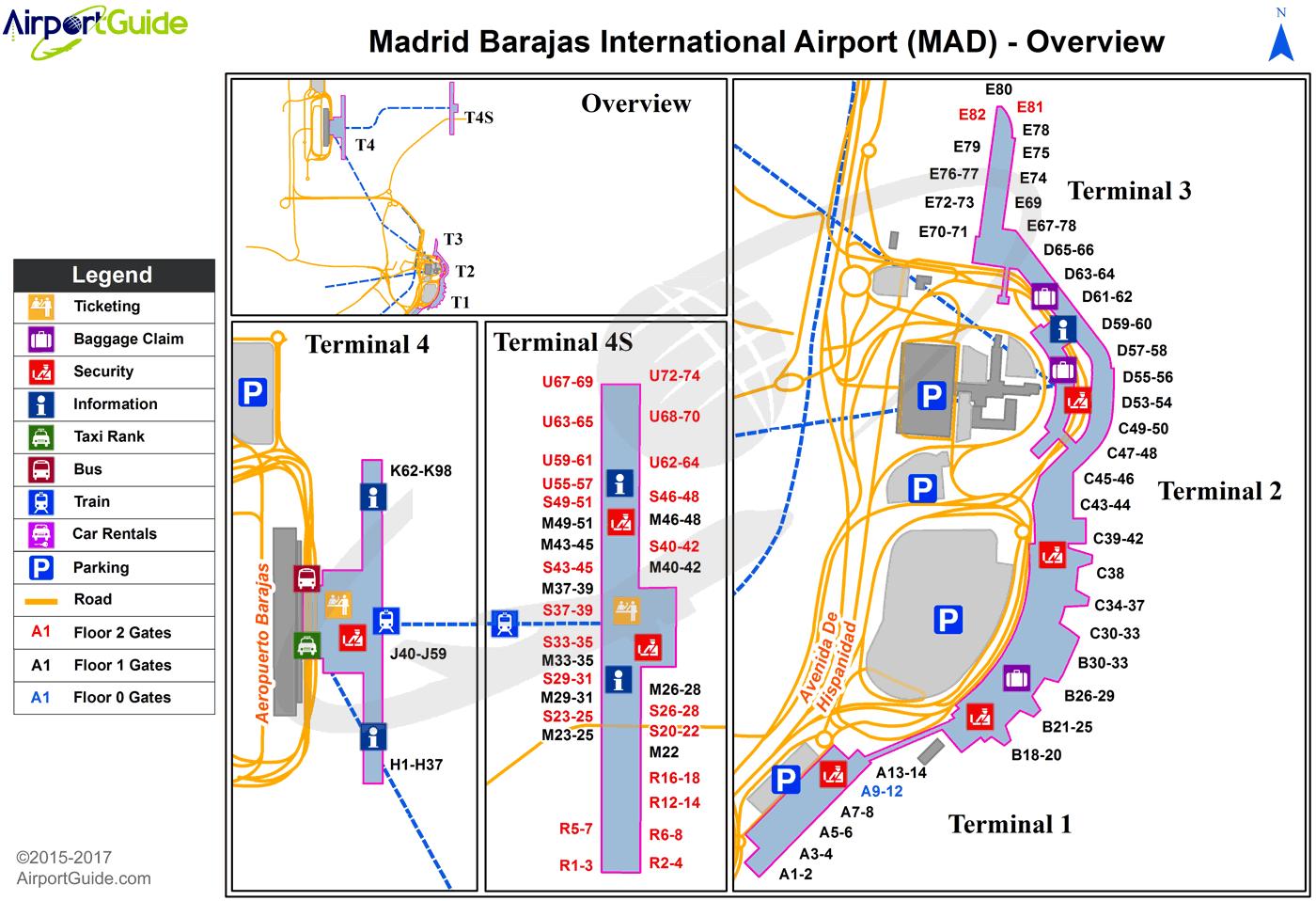 Madrid - Madrid Barajas International (MAD) Airport Terminal ...