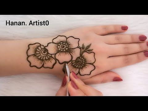 How To Draw The Rose On Hand Henna Arabic Youtube Rose Mehndi Designs Cute Henna Designs Cute Henna