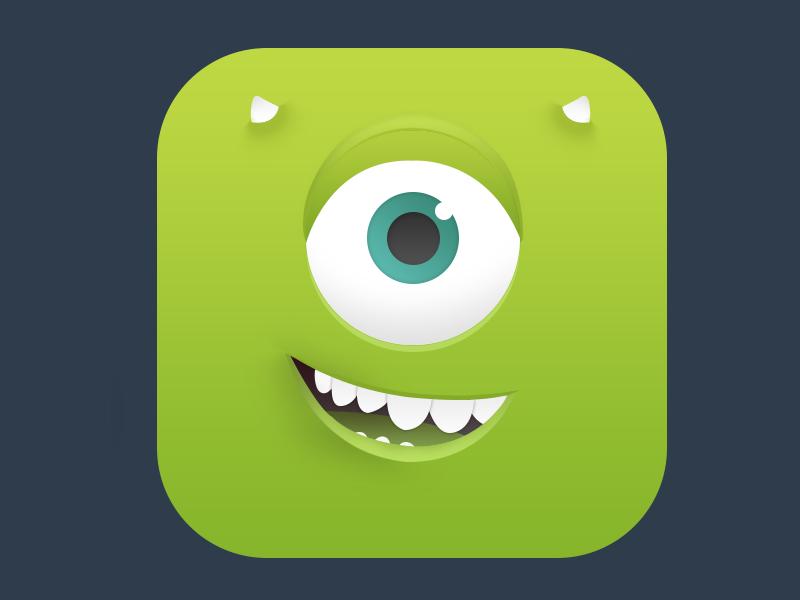 Mike Wazowski Icon Android Icon Design App Icon Mobile App Icon