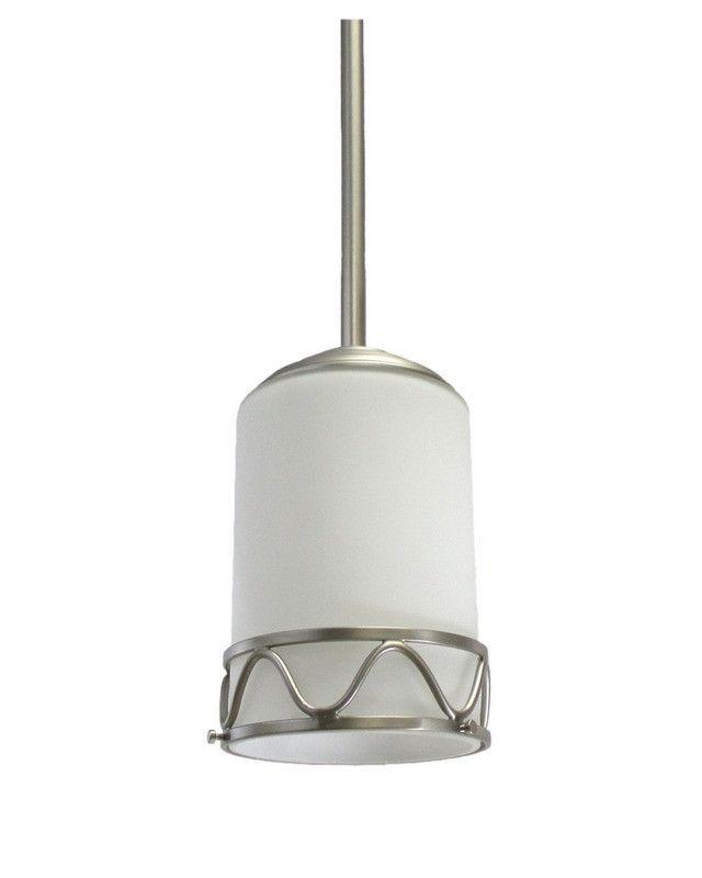 epiphany lighting 100640 bn one light mini pendant in brushed nickel