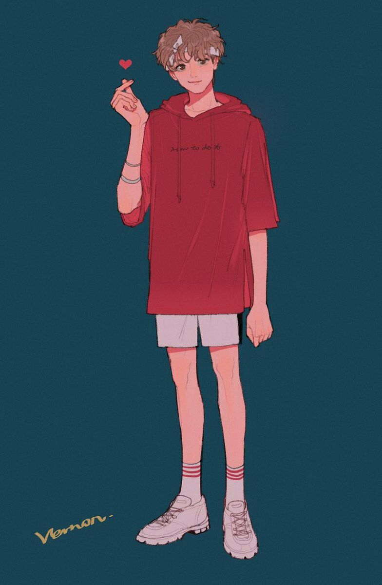 Vernon Seventeenfanart Cr Li Chestnuts Boy Art Character Art Character Design